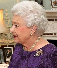 Royal Jewels of the World Message Board: Re: QEII's diamond floral brooch. Another photo