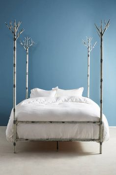 Anthropologie Birch Forest Four-Poster Bed