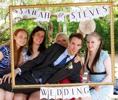 Homemade Wedding Photo Booth Just A Camera On Tripod With Hanging Frame