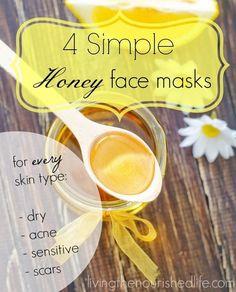 4 Simple Honey Face Masks for Every Skin Type! #facialmask #facemask #natural #DIY #howto #honeymask #acne #evenskintone #dryskin - see more on bellashoot.com