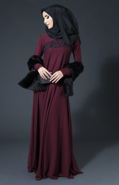 Silk Threads - Winter Plum #AabCollection #EmbroideryEdit #Plum #Abaya