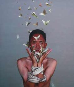 """Join us for a contemporary #Tibetan #art exhibition at Trace Foundation in New York, November 6 - December 21, 2014. gaton.trace.org """"Release from Suffering"""" (2007) by #Nortse courtesy of @rossirossi"""