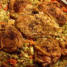 Thighs on Rice- easy and yum- add any veges , pumpkin puree to add more flavour with stock- plenty of garlic. Scrumptious - thanks charlotte for introducing!
