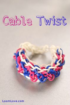 How to Make a Rainbow Loom Cable Twist #rainbowloom