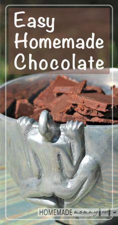 Easy Homemade Chocolate | www.homemademommy.net