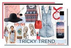 """""""overall shorts"""" by jennross76 ❤ liked on Polyvore"""