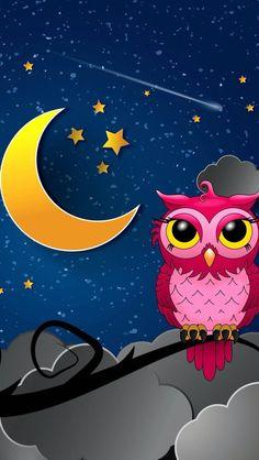 Silent owl night wallpaper for iphone Owl Wallpaper Iphone, Cute Owls Wallpaper, Best Iphone Wallpapers, Cellphone Wallpaper, Cute Wallpapers, Wallpaper Backgrounds, Owl Clip Art, Owl Art, Owl Doodle