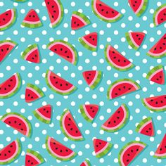 Photo by - Minus Watermelon Pics, Watermelon Background, Sweet Watermelon, Watermelon Birthday, Fabric Patterns, Print Patterns, Wallpaper Fofos, Background Powerpoint, Cute Patterns Wallpaper