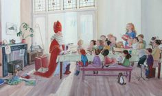 De kleren van Sinterklaas. Illustratie, Sanne te Loo.