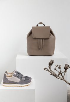 Peserico bag and grey sneakers | Fashion Still Life | AW 16/17 | Fashion shop Mariona | Style, trends, brands, fashion woman