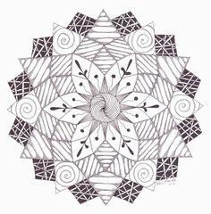 Tangle Madness: Zendala Dare #39