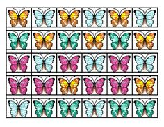 This center activity or game is designed to give your kiddos a chance to practice patterns, matching and sequencing using silk butterflies or just copies of the cards. Patterns include AB, ABB, AAB and ABC.