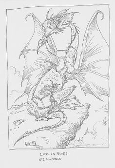 Lost in Books by Chris Riddell