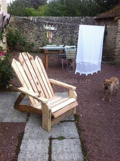 image51 597x800 Pallet adirondack chairs in pallet garden pallet furniture  with pallet chair