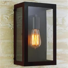 Modern Industrial Wall Sconce-Bronze 60 watt medium base lamp required.  (14Hx7Wx4D) Backplate is 8.5 x 5.  Product SKU: SCC1204 BZ Price:  $189.00