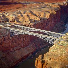 Navajo Bridge, Grand Canyon - Amirpasha P. - - Navajo Bridge, Grand Canyon - Amirpasha P. Amazing Architecture, Art And Architecture, Travel Around The World, Around The Worlds, Marble Canyon, Love Bridge, Famous Bridges, Bridge Design, Covered Bridges