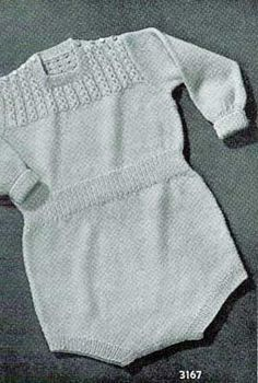 Playtimer Outfit, Size 6 Months to 1 Year | Knitting Patterns