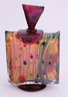Art Déco - Flacon à Parfum - Cristal Tchèque