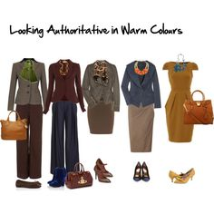"""looking authoritative in warm colours"" by imogenl on Polyvore"