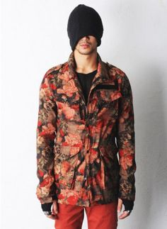 Man Jaclyn Ethnic Printed M-65 Field Jacket at Fabrixquare ($106.00)