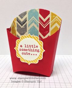 Fry Box Bigz Die, Tag Talk, Something to Say, Stampin' Up!, Brian King