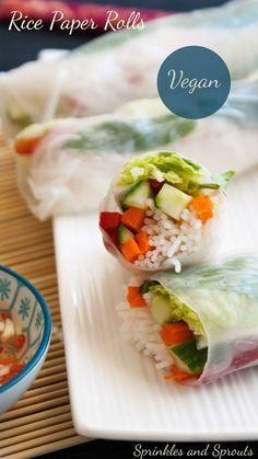 Rice Paper Rolls. A delicious and healthy vegan lunch idea.