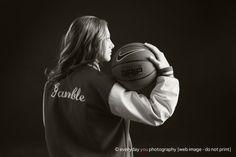 Senior Portrait / Photo / Picture Idea - Girls - Basketball - Varsity Letter Jacket
