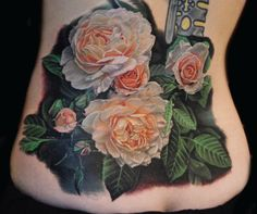 Realistic rose bush by Phil Garcia.  Great detail - would like without all the black shading