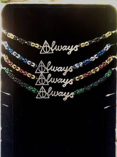 Wizard Pride Always necklace- all the house colors for Harry Potter Harry Potter More, Always Harry Potter, Harry Potter Jewelry, Harry Potter Outfits, Harry Potter Theme, Harry Potter Hogwarts, Harry Potter Fashion, Cute Jewelry, Jewlery
