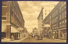 Fort Smith, Arkansas / Courtesy of Don Marquette Looking north at Sixth Street from Rogers Avenue toward Garrison Avenue, you can see buildings in the foreground ri...