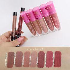 Jeffree Star Liquid Lipstick swatches