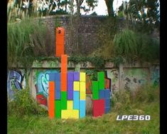 Playing tetris in real life.