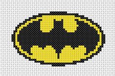 The Batman Logo Cross Stitch Pack is just one of the many geeky cross stitch packs available from Geek Stitch Batman Logo, Cross Stitch Designs, Cross Stitch Patterns, Cross Stitching, Cross Stitch Embroidery, Perler Beads, Marvel Cross Stitch, Cross Stitch Silhouette, Character Symbols