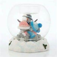 Tatty Teddy in snowglobe