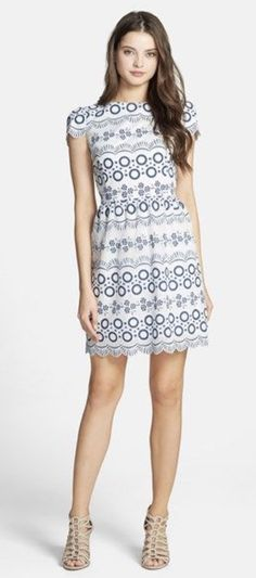 ~~~love this blue and white dress!  Ask your stylist for these items in your next stitch fix delivery.  Stitch fix spring summer 2017 fashion trends #affiliatelink