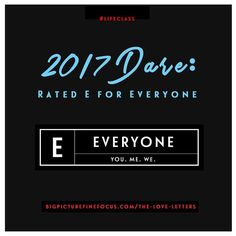 New Year New Dare. Are you in or are you in?