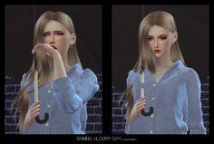 Fezet's Corporation: Raining, Gloomy Day - Crying / Umbrella set • Sims 4 Downloads
