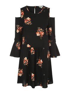 Womens Black Cold Shoulder Dress | Peacocks