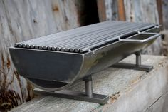 "hibachi grill, known as the ""Hibachinator""! This grill means business with a x removable grilling surface, and at a whopping 50 lbs. It can hold the heat, and deliver it right to the matter at hand: Grilling a meal. Made of welded steel. Metal Projects, Metal Crafts, Diy Projects, Welding Equipment, Welding Art, Welding Tools, Welding Ideas, Diy Tools, Cool Welding Projects"