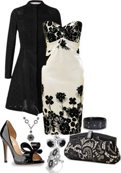 """Black & White"" by mshyde77 on Polyvore"