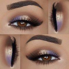 Ideas de maquillaje. Recuerda que esta temporada se utiliza mucho los colores claros y brillantes para dar luz en la zona de lagrimal del ojo...