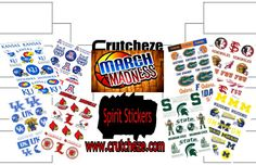 Crutcheze has March Madness!!! Check out our blog and our collection of NCAA stickers to help support your team during the tournament.