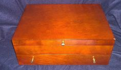 Reed & Barton Wooden Tarnish Preventive Felt-lined Flatware Storage Box Chest