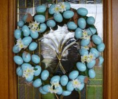 Robin egg wreath