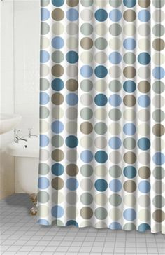 Dots Blue Sage Shower Curtain Item 34050 Wanna Find Material To Make Kitchen Curtains Like This