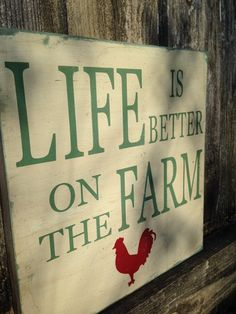 Life is Better on the Farm  Typography Art  by SweetSeptemberLane, $25.00
