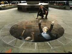Arte 3D en la calle (Julian Beever)