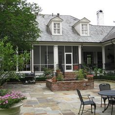 a hays town house plans New Orleans Homes, House Exterior, Town House Plans, Porch Remodel, Home Architecture Styles, Screened Porch, Country House Design, Back Garden Design, Town House Architecture