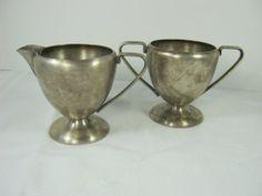 Vintage SiLVERPLATE CREAM & SUGAR Bowl BM Co/Benedict by LavenderGardenCottag