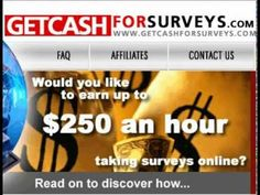 Get Cash For Surveys- is a very recommended product. Click HERE for Discounted Price for Get Cash For Surveys-: http://tinyurl.com/c823nvf